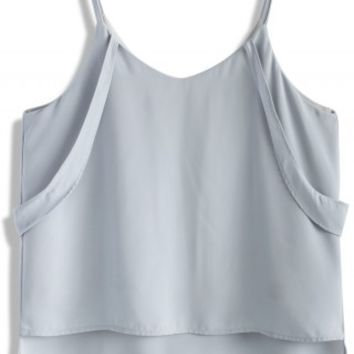 Radiant Forever Cami top in Pastel Blue - Retro, Indie and Unique Fashion