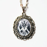 Baphomet - Handmade Vintage Cameo Pendant Necklace