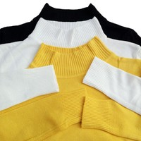 Basic Knitted Mock Turtleneck Sweater