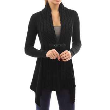 Women's Long Sleeve Knitted Cardigan Sweater