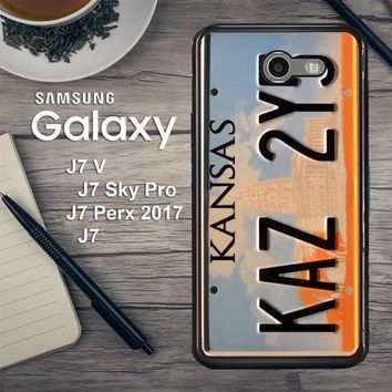 Supernatural License Plate X0204 Samsung Galaxy J7 V , J7 Sky Pro, J7 Perx 2017 SM J727 Case