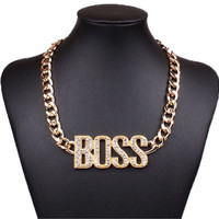 BOSS CHAIN NECKLACE