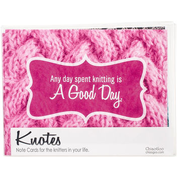 ChiaoGoo Knitting Note Card Set of 8 Cards and Envelopes