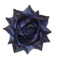 Midnight Blue Vixen Pin Up Rose Hair Clip