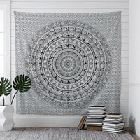 Printed Tapestry, Black/White