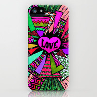 Power of LOVE...3 (retro pink) iPhone Case by Lisa Argyropoulos | Society6