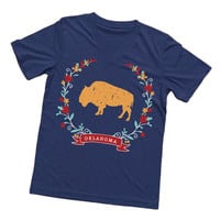 Blue Oklahoma Buffalo T Shirt