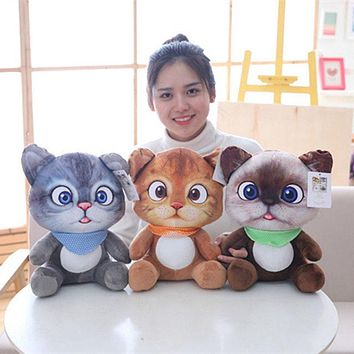 1pc 12cm Mini Cute Plush Cat Toys Stuffed Plush Animals Cartoon Cat Doll Toys Kids Toys Girls Gifts