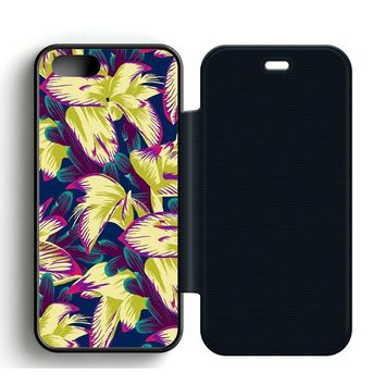 Colorful Cute Floral Leather Wallet Flip Case iPhone 5 | 5S
