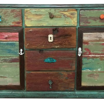 Dresser / Chest / Buffet Colorful Artisan Chic Weathered