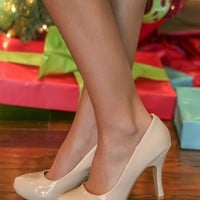 Make My Wish Come True Heels-Nude