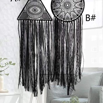 Woven Tassel Dream Catcher Wall Hanging Decor 1pc