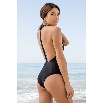 Mary Grace Swim - Body Gloved One Piece | Black