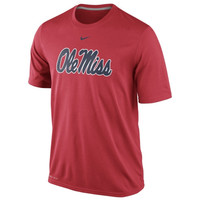 Nike Ole Miss Rebels Logo Legend Dri-FIT Performance T-Shirt - Red