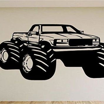 Monster Truck Race Car Auto Wall Decal Stickers Murals Boys Room Man Cave