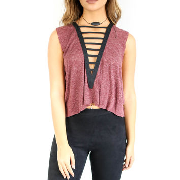Over The Edge Sleeveless Top