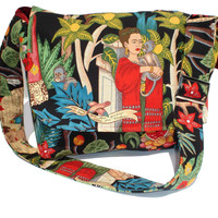 Black Frida  Messenger Bag / crossbody bag