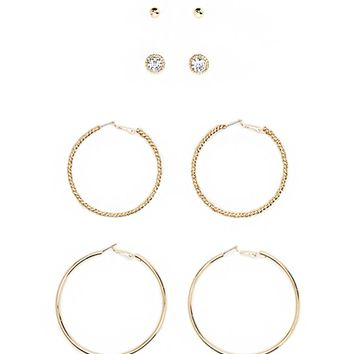 Hoop and Stud Earring Set