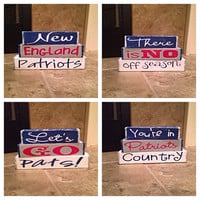 New England Patriots interchangeable blocks
