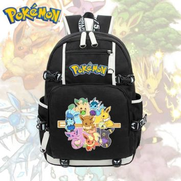 Anime  Eevee Backpack Cosplay Pikachu Shoulder Laptop Bags Knapsack Packsack Travel School Student Bags OtakuKawaii Pokemon go  AT_89_9