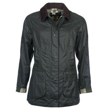 Barbour - Beadnell Wax Jacket in Sage