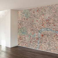 Londoner Map Wall Mural Decal