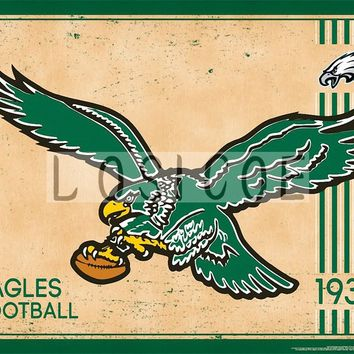 Philadelphia Eagles Vintage Movie Poster 30X42 CM Kraft Paper Wall Sticker Hanging Paintings Bar Cafe Interior Decoration