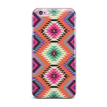 "Amanda Lane ""Southwestern Dreams"" Orange Pink iPhone Case"