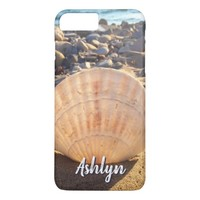 California sandy beach seashell photo custom name iPhone 8 plus/7 plus case