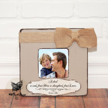 Fathers Day Gift from Son Gift for DAD First Fathers day Gift Personalized picture Frame Grandpa Gift from Kids Dad Gift Grandpa Frame