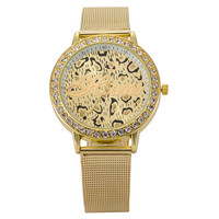 Awesome Stylish Good Price New Arrival Trendy Gift Great Deal Designer's Luxury Rhinestone Hot Sale Leopard Quartz Watch [6542110211]