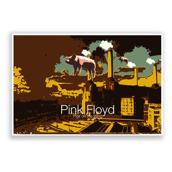 Pigs on the Wing Pink Floyd Poster