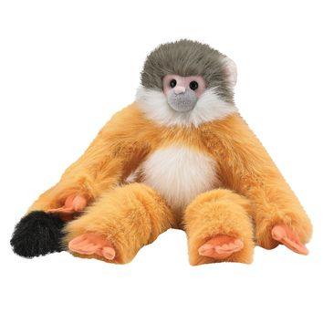 18 Inch Squirrel Monkey Floppy Plush Zoo Stuffed Animals