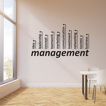 Vinyl Wall Decal Management Business Success Office Space Decor Stickers Mural (ig6145)