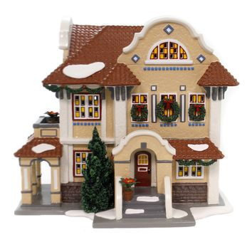 Dept 56 Buildings MISSION STYLE HOUSE Ceramic Christmas Snow Village 55332