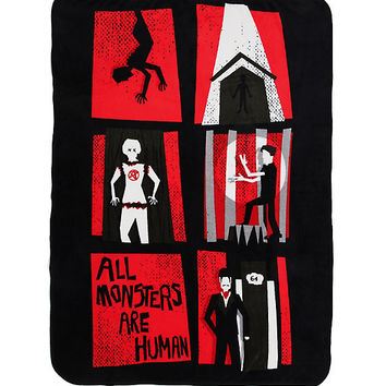 American Horror Story All Monsters Are Human Throw Blanket