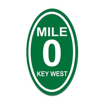 MILE MARKER ZERO KEY WEST EURO OVAL DECAL
