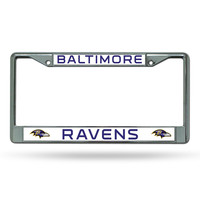 Baltimore Ravens Chrome License Plate Frame.