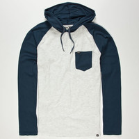 Hurley Durham Mens Lightweight Hoodie White  In Sizes