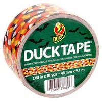 Duck Brand 281415 Printed Duct Tape, Candy Corn, 1.88 Inches x 10 Yards, Single Roll