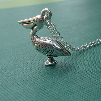 sterling pelican necklace gulf coast relief