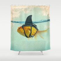 Brilliant DISGUISE Shower Curtain by Vin Zzep