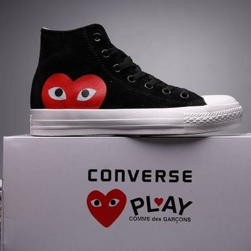 kuyou Converse Comme Des Garcons Suede Chuck Taylor All Star  Black/White  High Cut