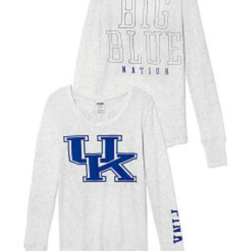 University of Kentucky Long-sleeve Thermal Tee - PINK - Victoria's Secret