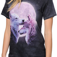 The Mountain Girls Forever Wolves Charcoal Boyfriend Tee Shirt