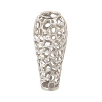 Benzara Tempting Aluminum Decorative Vase