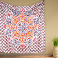 Bohemian Medallian Mandala Table Cloth Tapestry Wallhanging For Dorm Wall Decor