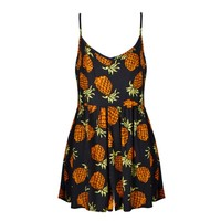 PINEAPPLE PRINT PLAYSUIT