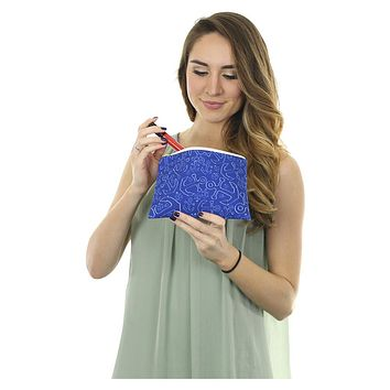 Anchor Dream Accessory Pouch - Navy