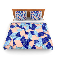 "Danny Ivan ""Friend of the Unknown"" Aqua Blue Lightweight Duvet Cover"